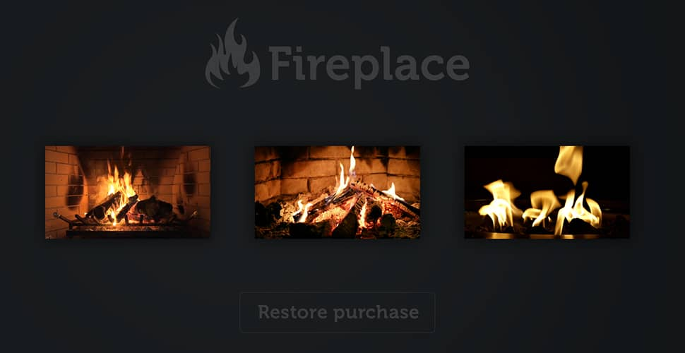 Bild på Apple TV app - myFireplace HD