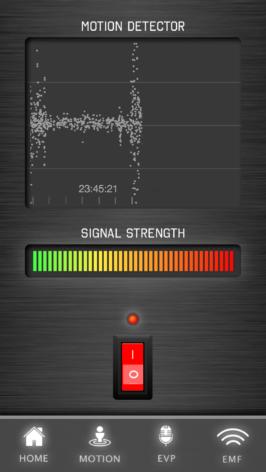 Bild på rörelsedetektor - App för spökjakt